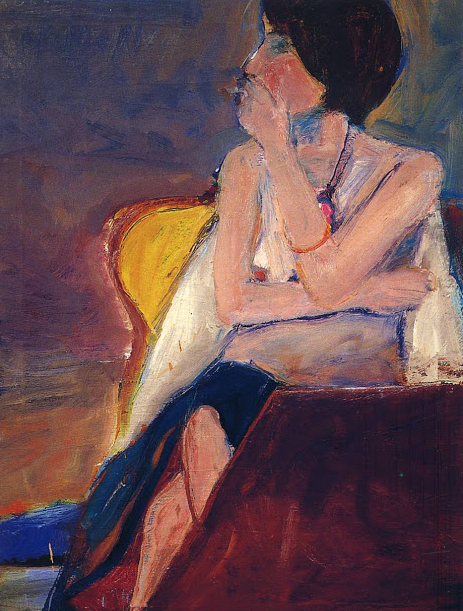 This Unlit Light - Woman by Richard Diebenkorn