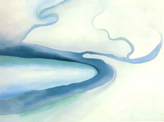 This Unlit Light: Georgia O'Keeffe - It was Blue and Green