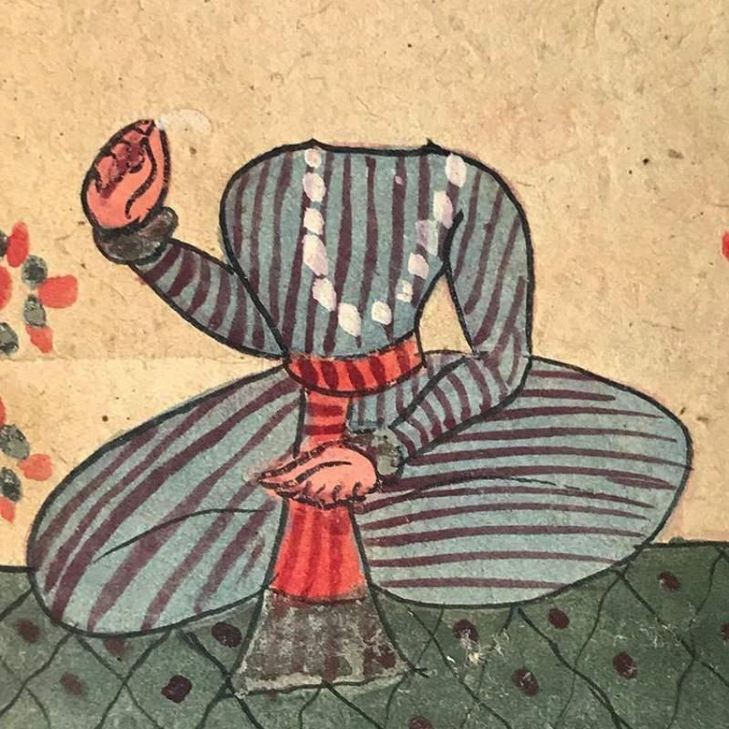 Tantric painting, India, C1800, detail