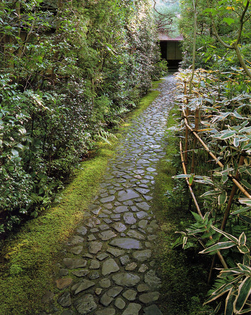 Ura-Senke: approach to the Tea House, Kyoto, Japan