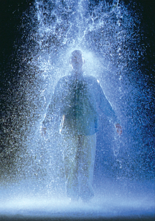 Bill Viola - The Crossing, 1996, video/sound installation