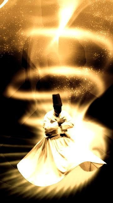 Sufi dancer; Light Outshining