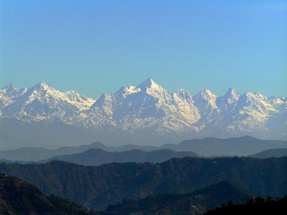 Himalayan Range from Kausani, Uttarakhand