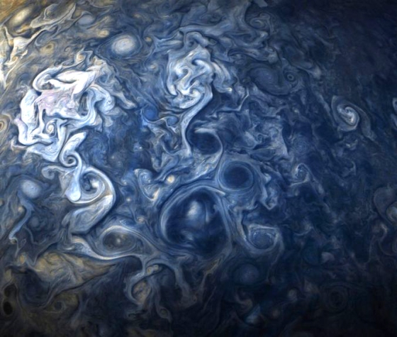 Clouds on Jupiter photographed by NASA's Juno