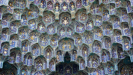 Islamic architecture - Iranian mosque ceiling